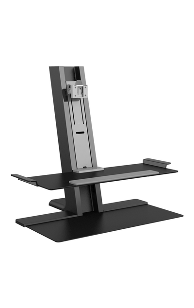 Humanscale Monitor Sit/Stand FREESTANDING BASE / Black Humanscale Quickstand Sit to Stand Workstation