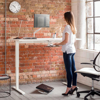 "Humanscale Office Desk Black / Black (BL) / 48""-54"" W x 24"" D Humanscale FLOAT"