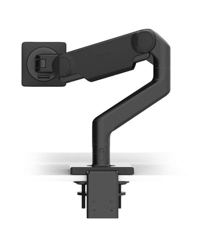 Humanscale Single Monitor Arm B - Black with Black Trim / CM - Two-Piece Clamp Mount with Base Humanscale M10 Heavy Duty Monitor arm Holds up to 48lbs