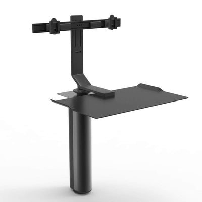 "Humanscale Under Desk Black / Dual Monitor Mount (5"" of manual adjustment) Humanscale QUICKSTAND UNDER DESK"