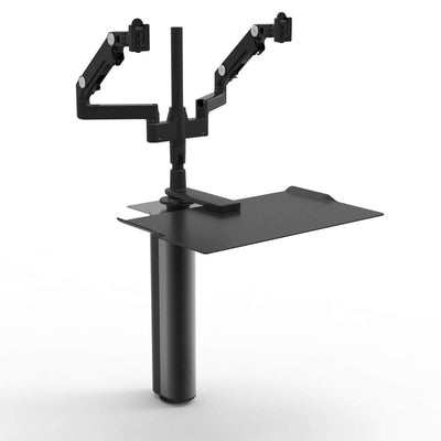 Humanscale Under Desk Black / M/Flex Monitor Arm Mount (Arm Sold Separately) Humanscale QUICKSTAND UNDER DESK