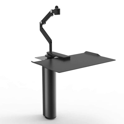 Humanscale Under Desk Black / M2 Monitor Arm Mount (Arm Sold Separately) Humanscale QUICKSTAND UNDER DESK