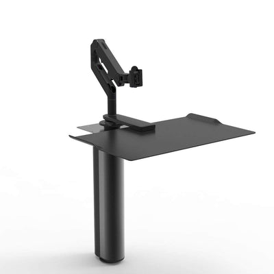 Humanscale Under Desk Black / M8 Monitor Arm Mount (Arm Sold Separately) Humanscale QUICKSTAND UNDER DESK