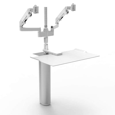 Humanscale Under Desk White / M/Flex Monitor Arm Mount (Arm Sold Separately) Humanscale QUICKSTAND UNDER DESK