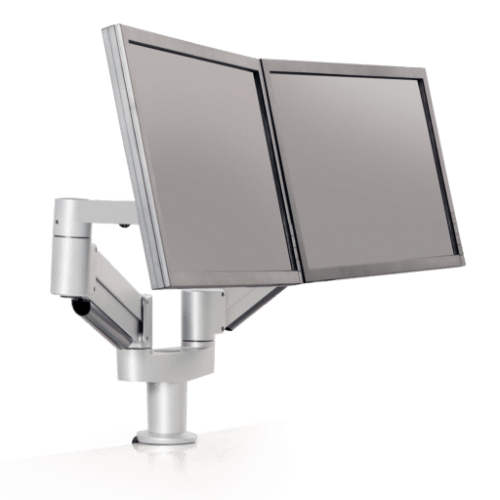 Innovative Dual Monitor Arm 2-13 lbs / Silver Innovative 7000-8408 – Dual Monitor Arm
