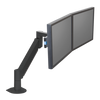 Innovative Dual Monitor Arm 7500-Wing-1000 1-11.4 lbs / Vista Black Innovative Dual Monitor Arm 7500-Wing – Deluxe Dual Monitor Arm
