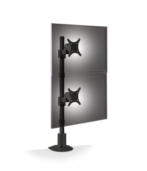 Innovative Dual Monitor Pole Mount Black Innovative 9136-D- FM – Dual Monitor Pole Mount