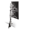 Innovative Dual Monitor Pole Mount Silver Innovative 9136-D- FM – Dual Monitor Pole Mount