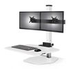 "Innovative Freestanding Sit-Stand Dual / Standard 30""W x 23""D / Flat White Innovative Winston Workstation Single, Dual, Triple, or Quad Sit to Stand Worksation"