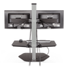 "Innovative Freestanding Sit-Stand Single / Standard 30""W x 23""D / Flat White Innovative Winston Workstation Single, Dual, Triple, or Quad Sit to Stand Worksation"