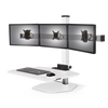 "Innovative Freestanding Sit-Stand Triple / Standard 30""W x 23""D / Flat White Innovative Winston Workstation Single, Dual, Triple, or Quad Sit to Stand Worksation"