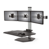 "Innovative Freestanding Sit-Stand Triple / Standard 30""W x 23""D / Silver Innovative Winston Workstation Single, Dual, Triple, or Quad Sit to Stand Worksation"