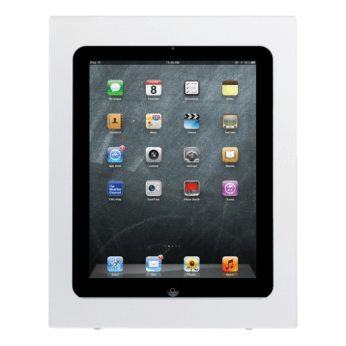 Innovative iPAD 8424 / Flat White Innovative 8424 and 8424-NHB Secure POS iPad Enclosure