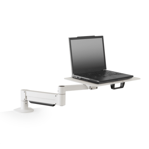 Innovative Laptop Stand 1 – 12 lb laptop / White Innovative 7011-8252 – Height Adjustable Laptop Stand with Oversize Notebook Tray