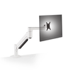 Innovative Monitor Arm Flat White / 2 – 13 lb monitor Innovative 7500 Heavy Duty Deluxe Single Monitor Arm