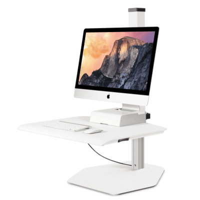 Innovative Monitor Arm Free Standing / White Innovative Winston Workstation for Apple iMac
