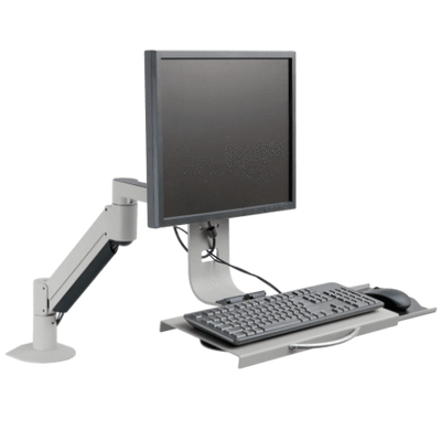 Innovative Monitor Arm & Keyboard Tray Silver Innovative 7509 – Data Entry Monitor Arm and Keyboard Tray