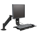 Innovative Monitor Arm & Keyboard Tray Vista Black Innovative 7509 – Data Entry Monitor Arm and Keyboard Tray