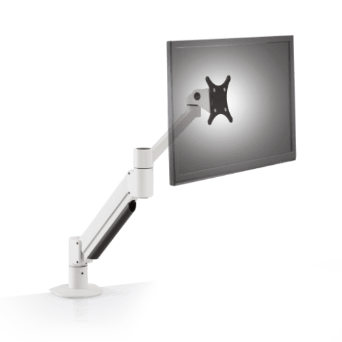 Innovative Monitor Arm supports a 7.5 – 15 lb monitor / White Innovative 7045 – Flexible Monitor Arm