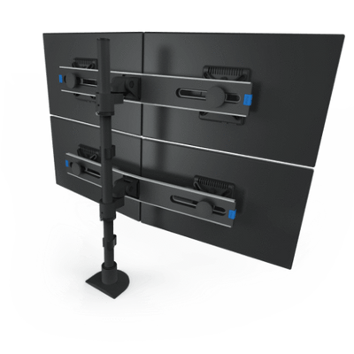 Innovative Monitor Mount Black Innovative 9136-Switch-D-FM – Two-Tier Quad Monitor Mount