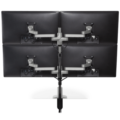 Innovative Monitor Mount White Innovative STX-22W – Staxx 2 Over 2 Monitor Mount – Wide