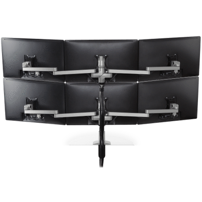 Innovative Monitor Mount White Innovative STX-33W – Staxx 3 Over 3 Monitor Mount – Wide