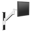 "Innovative Single Monitor Arm 13"" / Flat White Innovative 8326 – Vertical Computer Mounting System"