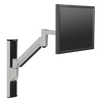 "Innovative Single Monitor Arm 13"" / Silver Innovative 8326 – Vertical Computer Mounting System"