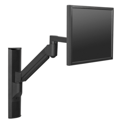 "Innovative Single Monitor Arm 13"" / Vista Black Innovative 8326 – Vertical Computer Mounting System"