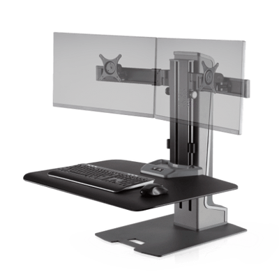 Innovative Workstation Monitor Mounts Dual Innovative Winston-E Sit-Stand Workstation Single, Dual, And Triple