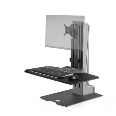 Innovative Workstation Monitor Mounts Single Compact Innovative Winston-E Sit-Stand Workstation Single, Dual, And Triple