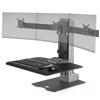Innovative Workstation Monitor Mounts Triple Innovative Winston-E Sit-Stand Workstation Single, Dual, And Triple