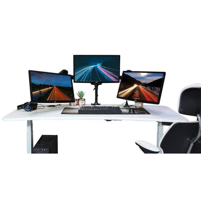 "Jestik Monitor Arms & Stands Jestik Trinity Triple Or Dual Monitor Arm Holds Up to 3 27"" Screens Clamp mount or Grommet"