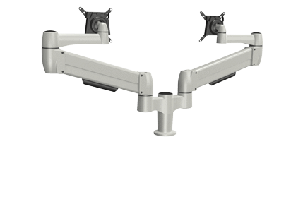 SpaceCo Dual Monitor Arm VESA / BOLT THROUGH / PLATINUM SpaceCo SpaceArm Double Standard Arm