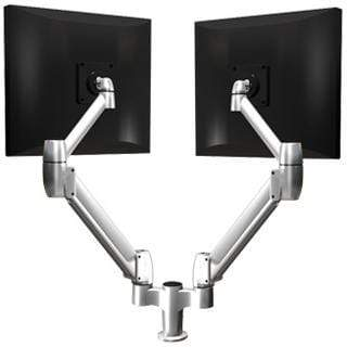 SpaceCo Dual Monitor Arm VESA / BOLT THROUGH / PLATINUM SpaceCo SpaceArm Sit-Stand Double Arm