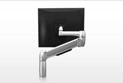 SpaceCo Single Monitor Arm Direct VESA / Bolt-through / Platinum SpaceCo SpaceArm Stubby Single Arm