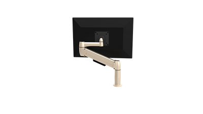 SpaceCo Single Monitor Arm VESA / BOLT THROUGH / PLATINUM SpaceCo SpaceArm Extended Single Arm