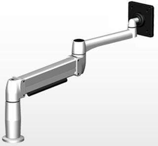 SpaceCo Single Monitor Arm VESA / Bolt Through / Platinum SpaceCo SpaceArm Long Arm
