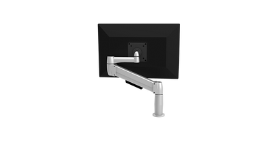 SpaceCo Single Monitor Arm VESA / BOLT THROUGH / PLATINUM SpaceCo SpaceArm Sit-Stand Single Arm