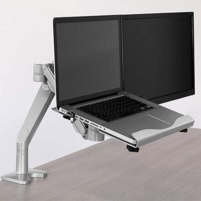 Workrite Dual Monitor Arm C-Clamp Workrite Willow Dual Monitor Arm