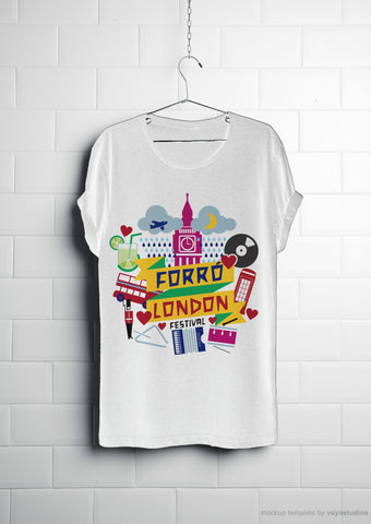 Forro London t-shirt   back and White