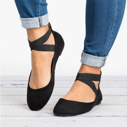 Forró Flats Elastic Ankle Strap