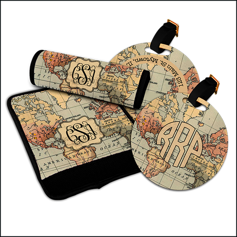 Map Luggage Tags and Luggage Finders Set $12.95 - $45.95