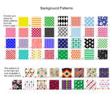 Pattern Selection Chart for Ladies Accessory Set