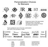 Monogram and Font Chart for Glassware