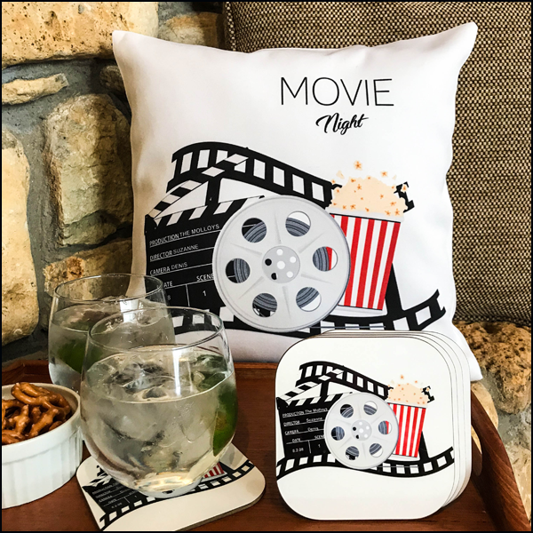 Screen Time Pillow Cover and Coaster Set