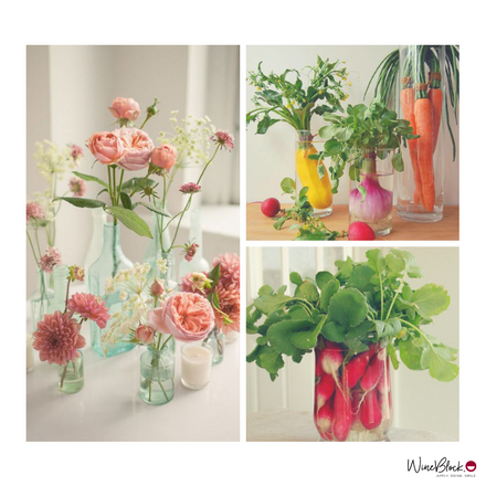 Simple Spring Center Pieces