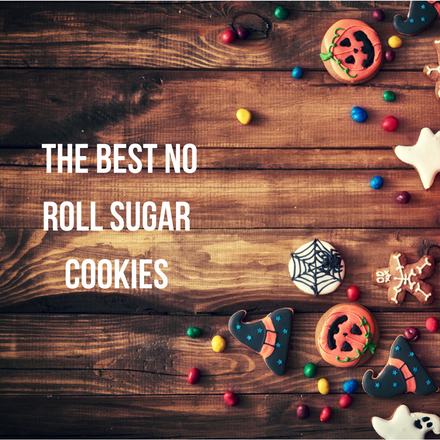 The BEST No Roll Sugar Cookies