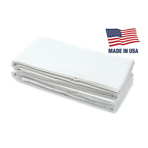 "USA Made - Fitted Bed Sheets For Twin XL, Bunk, Dorm, And Hospital Mattresses - 38"" x 80"" x 9 1/2"" - 50/50 Cotton/Polyester Blend"