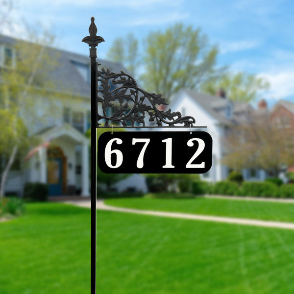 Oak Reflective Address Sign